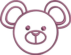 Bear Face Outline embroidery design