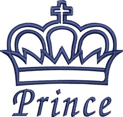Prince Crown Outline embroidery design