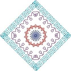 Geometric Diamond embroidery design