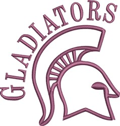 Gladiator Head Outline embroidery design