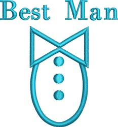 Best Man Tuxedo Outline embroidery design
