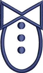Tuxedo Outline embroidery design