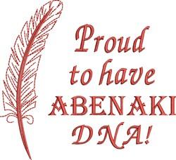 Native American Abenaki Pride embroidery design