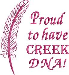 Native American Creek Pride embroidery design