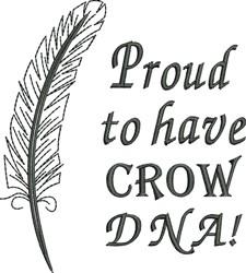 Native American Crow Pride embroidery design