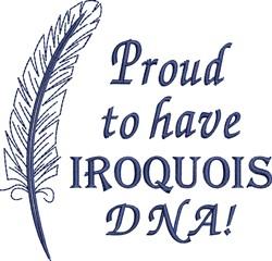 Native American Iroquois Pride embroidery design