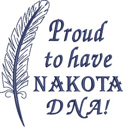 Native American Nakota Pride embroidery design