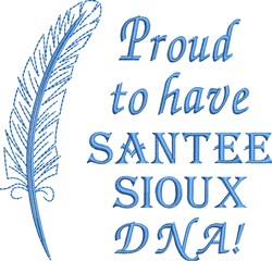 Native American Santee Sioux embroidery design