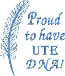Native American Ute Pride embroidery design