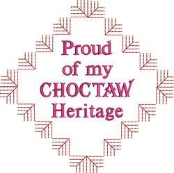 Native American Choctaw Pride embroidery design