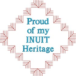 Native American Inuit Pride embroidery design