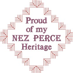 Native American Nez Perce embroidery design