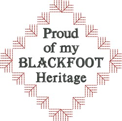 Native American Blackfoot Pride embroidery design