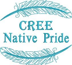 Native American Cree Pride embroidery design