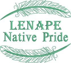 Native American Lenape Pride embroidery design