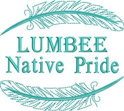 Native American Lumbee Pride embroidery design