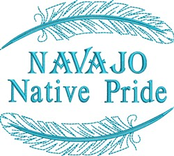Native American Navajo Pride embroidery design