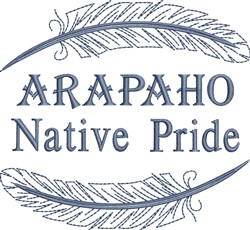 Native American Arapaho Pride embroidery design