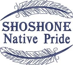 Native American Shoshone Pride embroidery design
