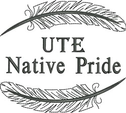 Native American Ute Pride embroidery design