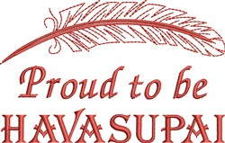 Native American Havasupai Pride embroidery design