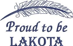 Native American Lakota Pride embroidery design