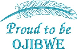 Native American Ojibwe Pride embroidery design