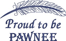 Native American Pawnee Pride embroidery design