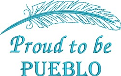 Native American Pueblo Pride embroidery design