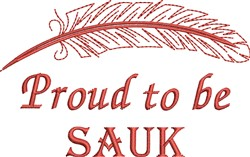 Native American Sauk Pride embroidery design
