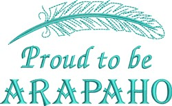 Native American Arapaho Pride embroidery design