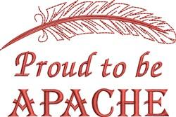 Native American Apache Pride embroidery design