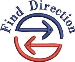 Find Direction embroidery design