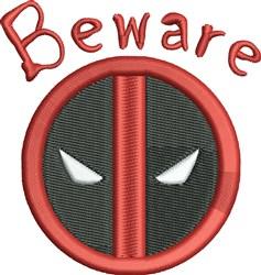 Beware embroidery design