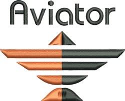 Aviator embroidery design