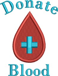 Donate Blood embroidery design