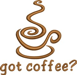 Got Coffee embroidery design