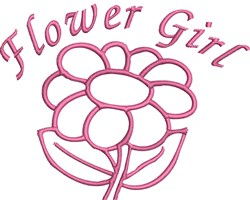 Flower Girl Outline embroidery design