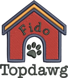 Dog House 3 embroidery design