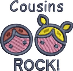 Cousins Rock embroidery design