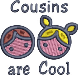 Cousins Are Cool embroidery design