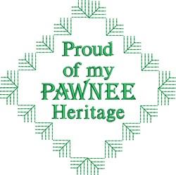 Pawnee Heritage embroidery design