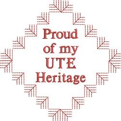 Ute Heritage embroidery design