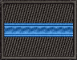 Police Blue Line embroidery design