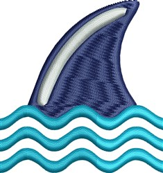 Shark Fin embroidery design