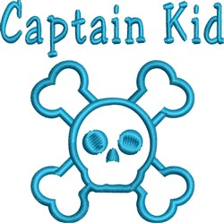Captain Kid embroidery design