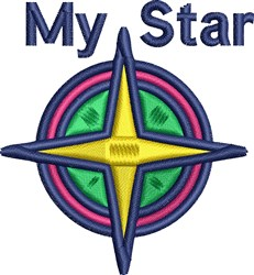 My Star embroidery design