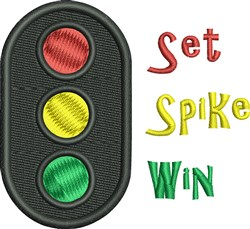 Set Spike Win embroidery design