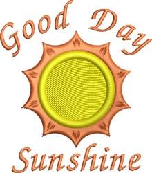 Good Day Sunshine embroidery design