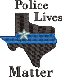 Police Lives Matter embroidery design